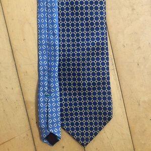 Blue / gold Tommy Hilfiger 100% silk Italian tie
